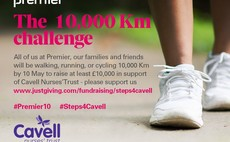 Premier is aiming to run, walk or cycle a combined distance of £10,000km for Cavell Nurses' Trust