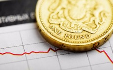 Sterling falls to eight-week low as uncertain economic outlook weighs